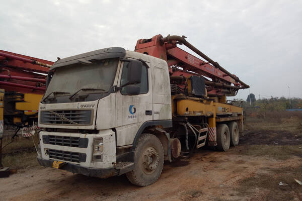 sany 37m used concrete pump truck